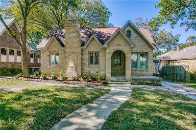 Dallas County Single Family Home For Sale: 6943 Lindsley Avenue