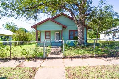 Brownwood Single Family Home For Sale: 501 Fourth Street