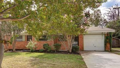 White Settlement Single Family Home Active Option Contract: 8725 Easley Street