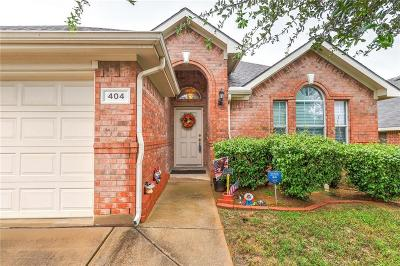 Euless Single Family Home Active Option Contract: 404 Renee Drive