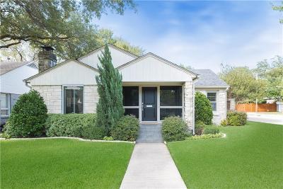 Dallas Single Family Home For Sale: 5651 W Hanover Avenue
