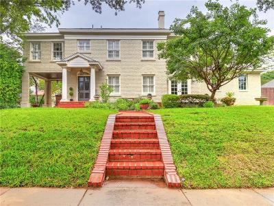 Fort Worth Single Family Home For Sale: 2012 Ward Parkway