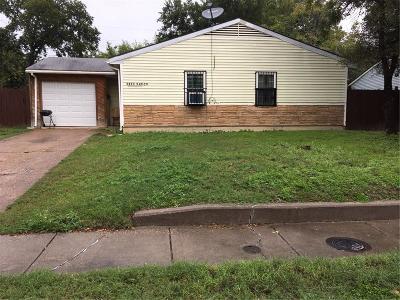 Dallas TX Single Family Home For Sale: $87,000