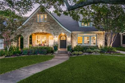 Dallas Single Family Home For Sale: 6206 Tremont Street