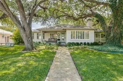 Dallas Single Family Home Active Option Contract: 6050 Del Norte Lane
