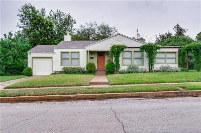 Fort Worth Single Family Home For Sale: 2105 Crestview Drive