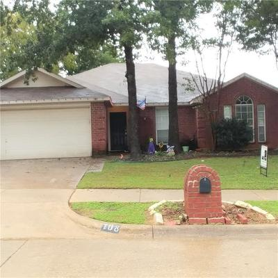 Mansfield TX Single Family Home For Sale: $218,000