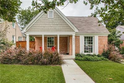 Dallas TX Single Family Home For Sale: $899,999