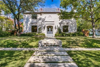Highland Park Single Family Home For Sale: 4400 Beverly Drive