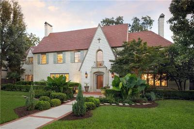 Highland Park Single Family Home For Sale: 3505 Beverly Drive