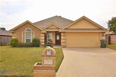 Abilene Single Family Home For Sale: 841 Shallow Water Trail