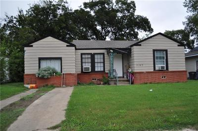 Fort Worth Single Family Home For Sale: 5183 Erath Street