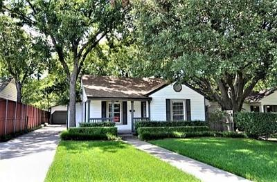 Dallas County Single Family Home For Sale: 4818 Elsby Avenue