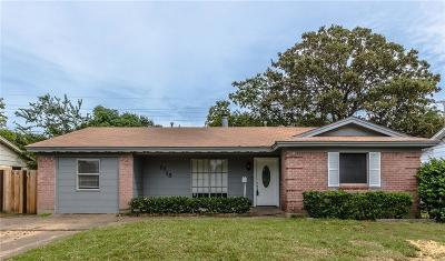 Irving Single Family Home Active Contingent: 2718 Stafford Street