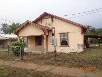 Brownwood Single Family Home For Sale: 1307 H. Avenue