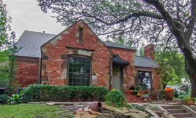 Fort Worth Single Family Home For Sale: 3197 Westcliff Road W