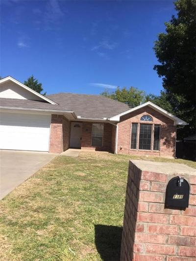 Weatherford Single Family Home Active Option Contract: 1311 Pamela Drive