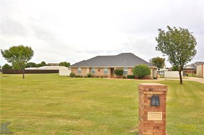Abilene Single Family Home For Sale: 117 Sunburst Road