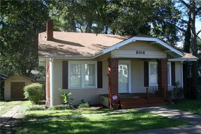 Sherman Single Family Home For Sale: 806 N Woods Street