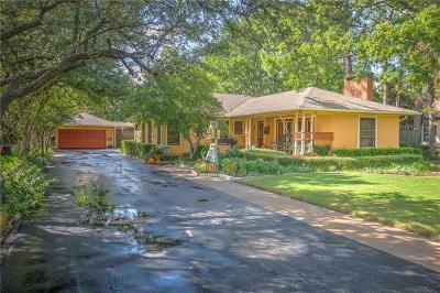 Denton Single Family Home For Sale: 1815 N Bell Avenue