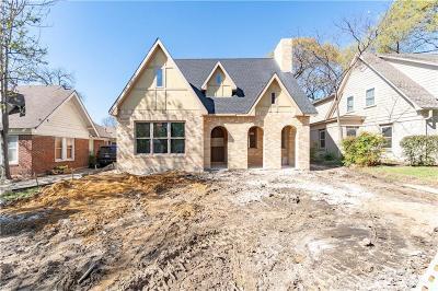 Dallas County Single Family Home For Sale: 5627 Vanderbilt Avenue