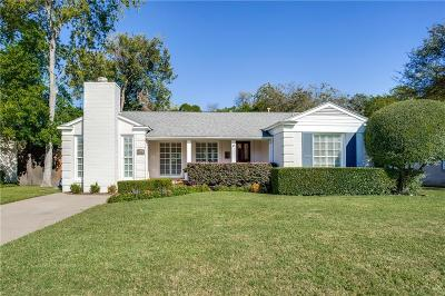 Dallas County Single Family Home For Sale: 5743 Bryn Mawr Drive