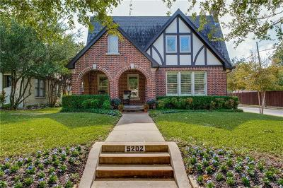 Dallas County Single Family Home For Sale: 5202 Ridgedale Avenue