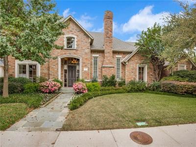 Dallas Single Family Home Active Option Contract: 17928 Castle Bend Drive