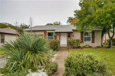 Dallas, Addison Single Family Home For Sale: 4819 Wateka Drive