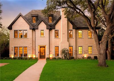 Dallas County Single Family Home For Sale: 6831 Orchid Lane