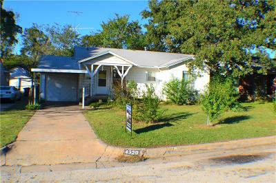 Fort Worth Single Family Home Active Option Contract: 4329 Lambeth Lane