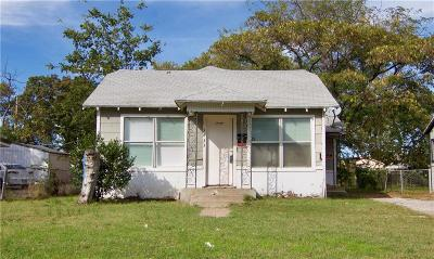 Fort Worth Single Family Home Active Option Contract: 3433 Conway Street