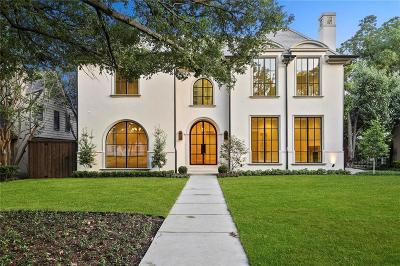 Dallas County Single Family Home Active Option Contract: 3609 Bryn Mawr