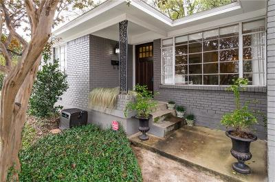 Dallas Single Family Home Active Option Contract: 4219 Skillman Street
