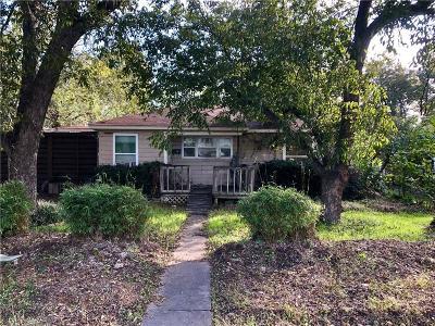 Denton Single Family Home Active Option Contract: 912 Coit Street