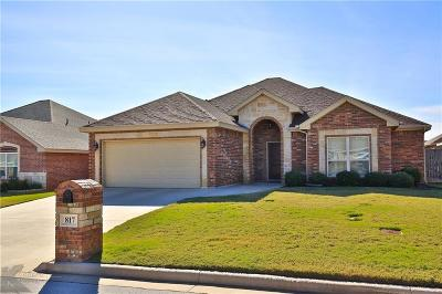 Abilene Single Family Home Active Option Contract: 817 Flat Water Drive
