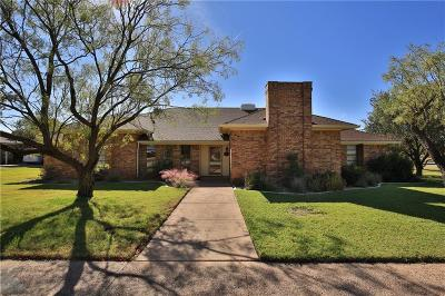 Abilene Single Family Home For Sale: 1213 Chariot Circle