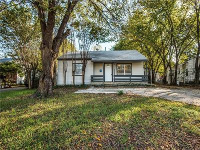 Irving Single Family Home Active Option Contract: 513 W 4th Street
