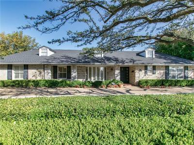 Dallas County Single Family Home Active Option Contract: 7111 Mimosa Lane