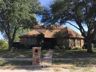 Benbrook Single Family Home Active Option Contract: 324 Trinidad Court