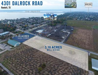 Rowlett Commercial Lots & Land For Sale: 4301 Dalrock Road