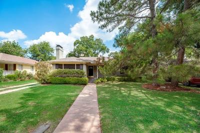 Dallas Single Family Home For Sale: 6337 Sudbury Drive