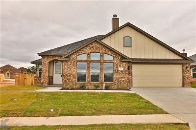 Abilene Single Family Home For Sale: 244 Carriage Hills Parkway