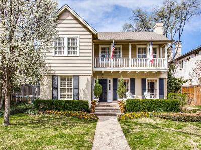 Single Family Home For Sale: 3538 Caruth Boulevard