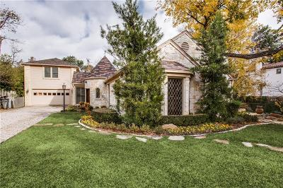 Dallas County Single Family Home Active Option Contract: 5611 Stonegate Road