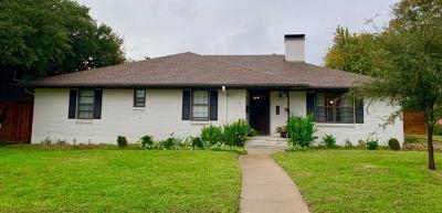 Dallas Single Family Home For Sale: 4609 Creighton Drive