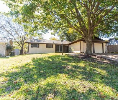 White Settlement Single Family Home Active Option Contract: 8721 Ontario Drive