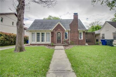 North Oak Lawn, North Oak Lawn Add, Notth Oak Lawn, Oak Lawn Heights, Oaklawn Single Family Home For Sale: 5107 Parkland Avenue