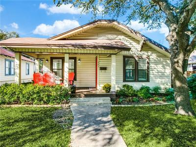 Dallas Single Family Home Active Option Contract: 923 N Edgefield Avenue