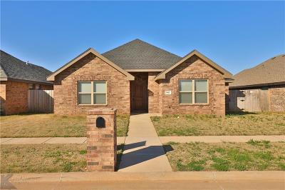 Abilene Single Family Home For Sale: 5842 Foxfire Drive